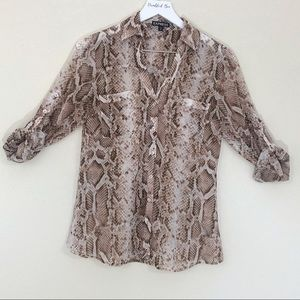 Express Portofino Snakeskin Shirt